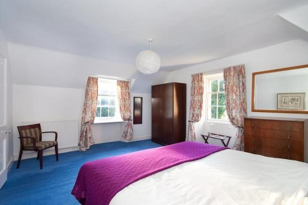 Blue Carpet, Purple Bedding And Orange Flowery Curtains. What More Could  You Want From